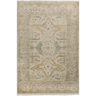 Kangley Wool Beige Area Rug Rug Size: 9 x 13