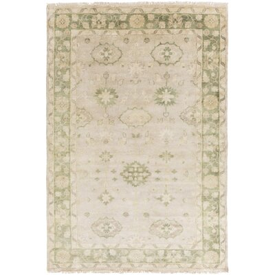 Brie Moss/Gray Area Rug Rug Size: 2 x 3