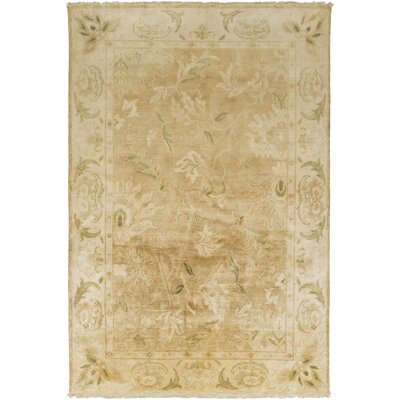 Talence Light Brown/Olive Area Rug Rug Size: 56 x 86