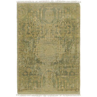 Vivier Hand-Knotted Tan Area Rug Rug size: 9 x 12