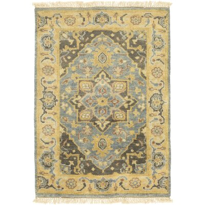 Kangley Hand-Knotted Lime Area Rug Rug Size: 8 x 11