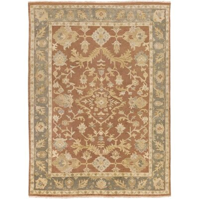 Eugen Hand-Knotted Wool Brown Area Rug Rug Size: 79 x 99