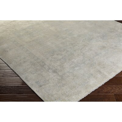 Andelle Hand-Knotted Gray/Brown Area Rug Rug Size: 8 x 10