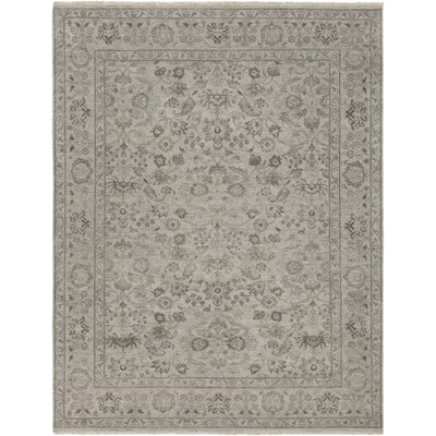 Naelle Hand-Knotted Gray Area Rug Rug Size: Rectangle 2 x 3