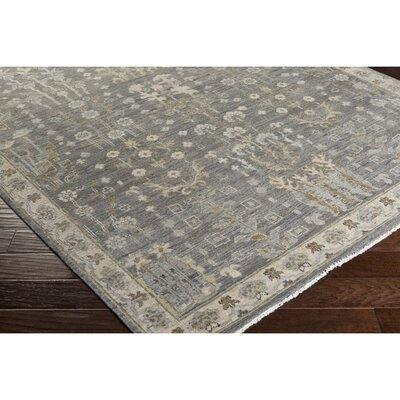 Naelle Hand-Knotted Brown Area Rug Rug Size: 2 x 3