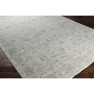 Naelle Hand-Knotted Neutral Area Rug Rug Size: 9 x 12