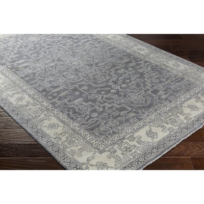 Naelle Hand-Knotted Gray/Neutral Area Rug Rug Size: 10 x 14