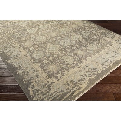 Adrien Hand-Knotted Beige Area Rug Rug Size: 6 x 9