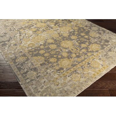 Adrien Hand-Knotted Gray/Beige Area Rug Rug Size: Rectangle 9 x 13