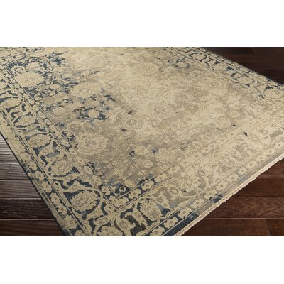 Adrien Hand-Knotted Beige Area Rug Rug Size: Rectangle 2 x 3