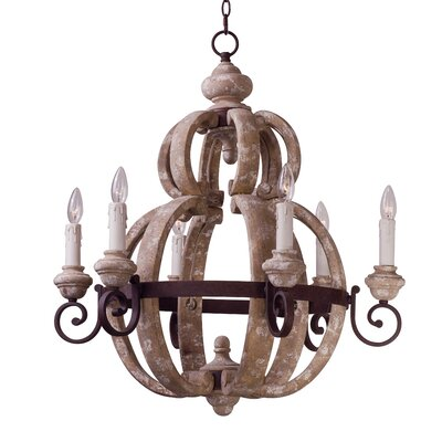 Valmer 6-Light Candle-Style Chandelier