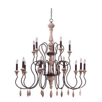 Valmer 15-Light Candle-Style Chandelier