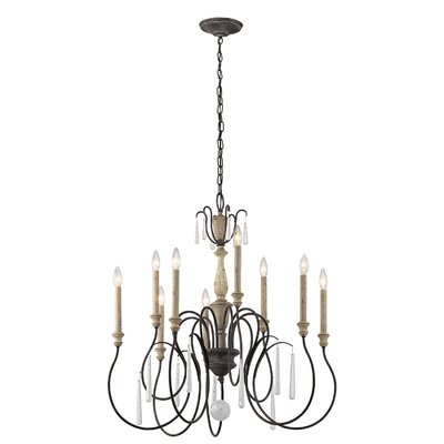 Lottie 9-Light Candle-Style Chandelier