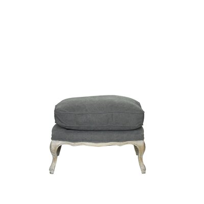 Dorothy Leather Ottoman Upholstery: White/Frost Gray