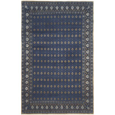 Abere Hand-Knotted Indigo/Beige Area Rug Rug Size: 9 x 12