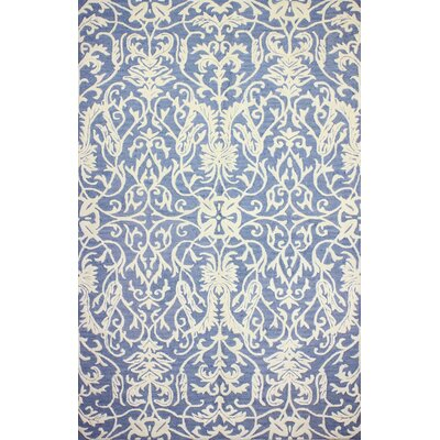 Pelham Hand-Tufted Denim Area Rug Rug Size: 3'6