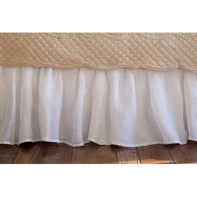Cherry 350 Thread Count Linen Voile Bed Skirt Color: White, Size: Twin