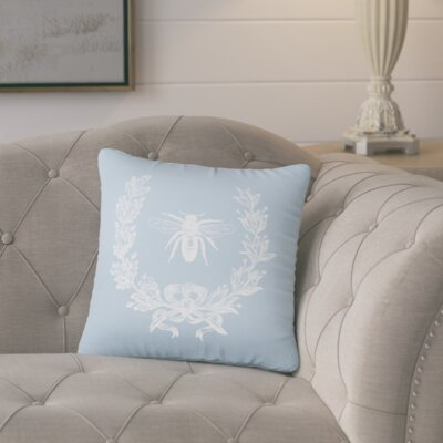 Citronelle  Throw Pillow Color: Placid Blue