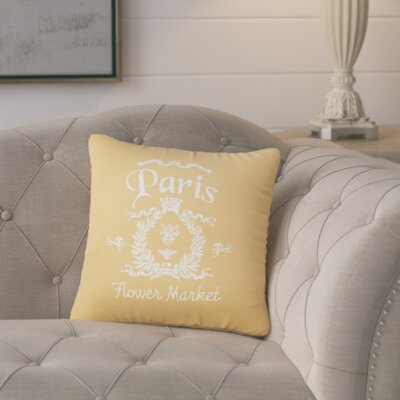 Circee Flower Market Cotton Throw Pillow Color: Golden Rod