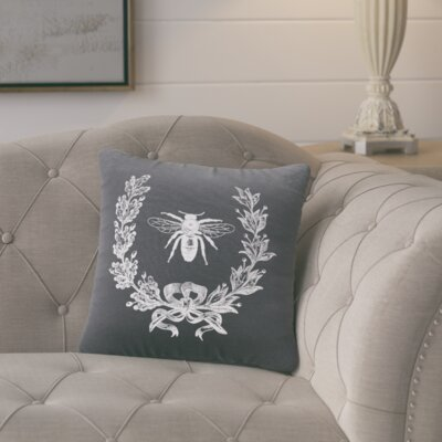 Citronelle  Throw Pillow Color: Gunmetal Grey