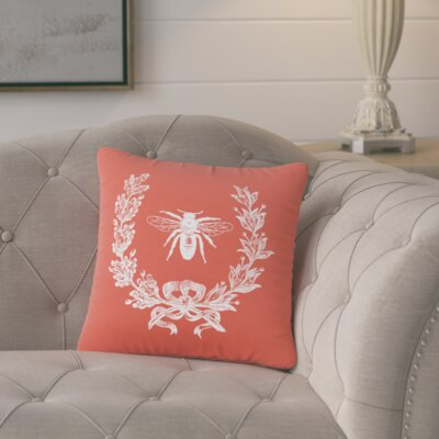 Citronelle  Throw Pillow Color: Cayenne