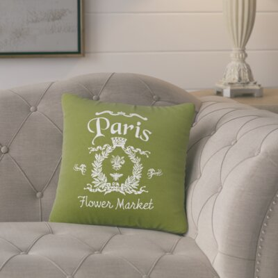 Circee Flower Market Cotton Throw Pillow Color: Citronella