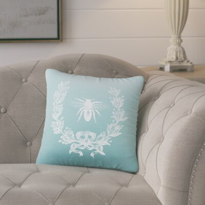 Citronelle  Throw Pillow Color: Aqua