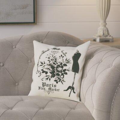 Larocque Linen Flea Market Cotton Throw Pillow
