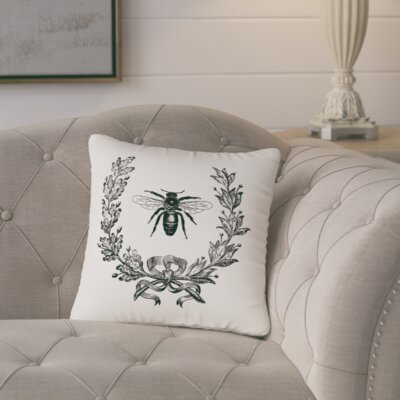Citronelle  Throw Pillow Color: Ivory / Black