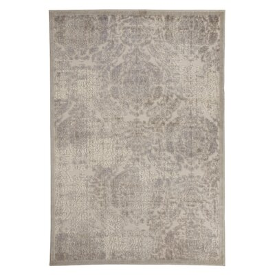 Caille Cream Area Rug Rug Size: 53 x 75