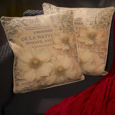 Amity Flower Script Throw Pillow
