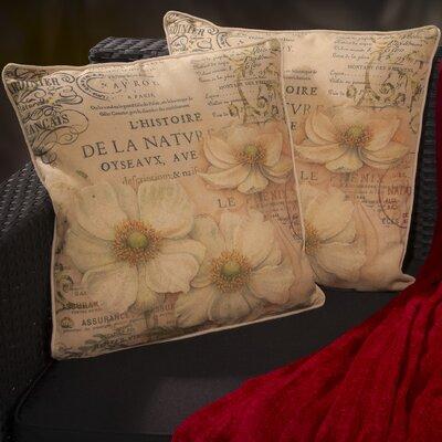 Amity Flower Script Throw Pillow