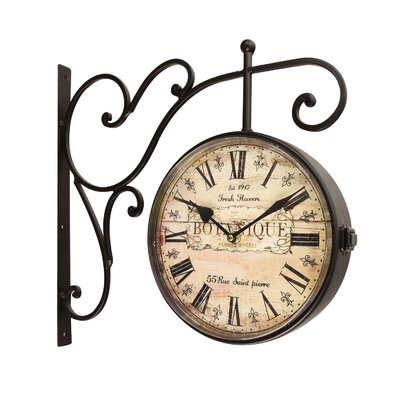 "Round ""Botanique"" Roman Numeral, Scroll Wall Hanging Clock OAWY5995 34279292"