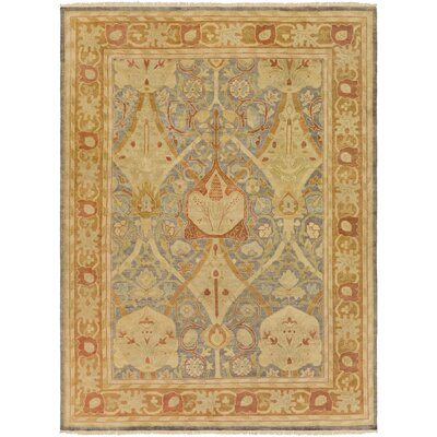 Talence Gold Oriental Area Rug Rug Size: 9 x 13