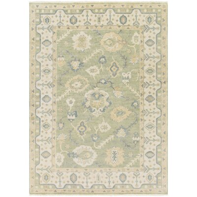 Talence Tan/Olive Area Rug Rug Size: Rectangle 36 x 56