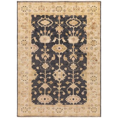 Kangley Black/Gold Area Rug Rug Size: 36 x 56