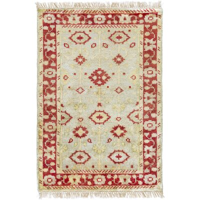 Kangley Hand Knotted Beige Area Rug Rug Size: 3'6