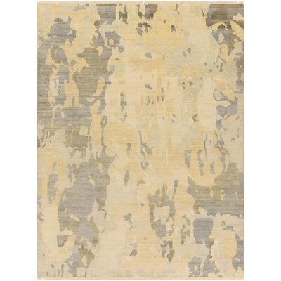 Seema Sea Foam/Olive Abstract Area Rug Rug Size: 36 x 56