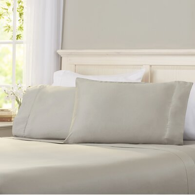 Virgile 300 Thread Count Pima Cotton Pillowcase Size: King, Color: Silver
