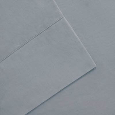 Elona 300 Thread Count Pima Cotton Sheet Set Size: California King, Color: Blue