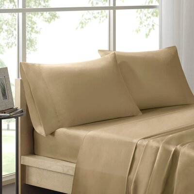 Virgile 300 Thread Count Pima Cotton Pillowcase Size: King, Color: Khaki