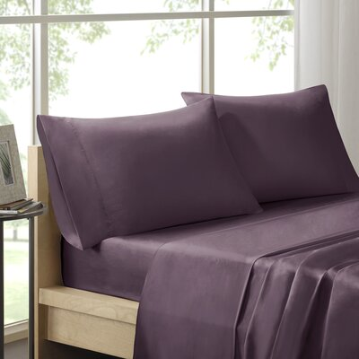 Virgile 300 Thread Count Pima Cotton Pillowcase Size: King, Color: Purple