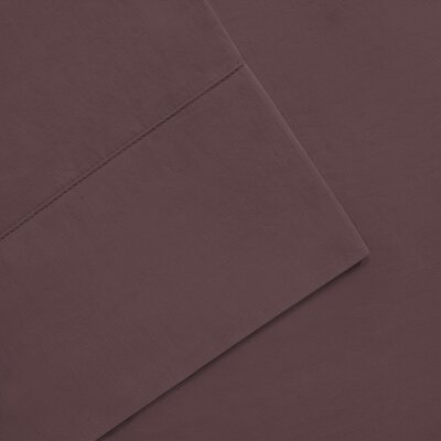Elona 300 Thread Count Pima Cotton Sheet Set Size: Full, Color: Purple
