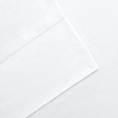 Elona 300 Thread Count Pima Cotton Sheet Set Size: King, Color: White