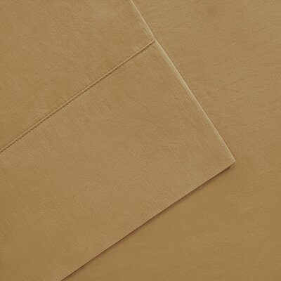 300 Thread Count Pima Cotton Sheet Set Size: King, Color: Khaki