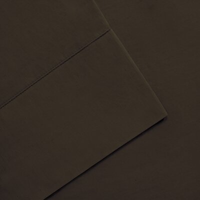 Elona 300 Thread Count Pima Cotton Sheet Set Size: Full, Color: Chocolate
