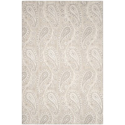 Lizzie Hand-Knotted Ivory/Silver Area Rug Rug Size: Rectangle 9 x 12