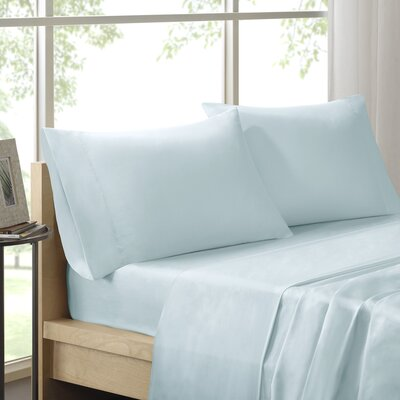 Virgile 300 Thread Count Pima Cotton Pillowcase Size: King, Color: Seafoam