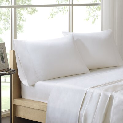 Virgile 300 Thread Count Pima Cotton Pillowcase Size: Standard, Color: White