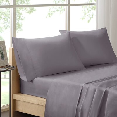 Virgile 300 Thread Count Pima Cotton Pillowcase Size: King, Color: Gray